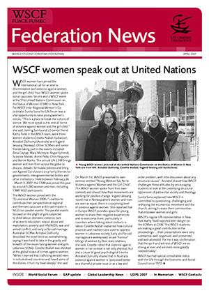 WSCF Federation News 2007 Apr
