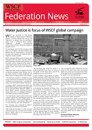 WSCF Federation News 2011 Apr